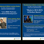 Hallway Display Posters – Postdoctoral Affairs Lecture Series